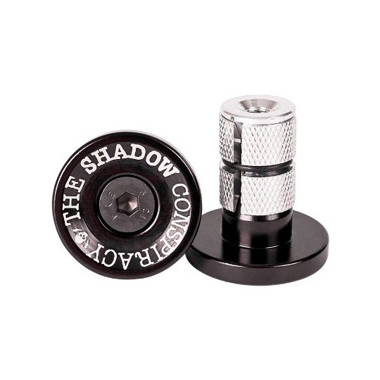 THE SHADOW CONSPIRACY Deadbolt Bar Ends negru