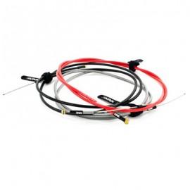 KINK Cablu și cămașă lineară DX frână incl. velcro strap roșu