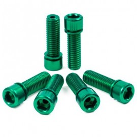 THE SHADOW CONSPIRACY Hollow Big Bolts Kit verde, 6 buc/set
