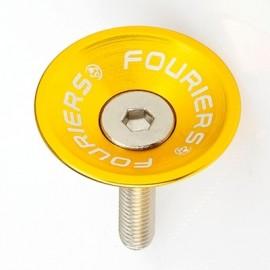 FOURIERS Capac pentru furci, 1-1/8, Aluminiu 6061-T6 CNC, Auriu