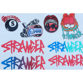 STRANGER Set stickere