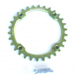 FOURIERS NW E1 Foaie angrenaj 30T comp Shimano 104mmx4 verde