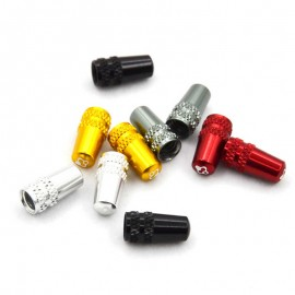 FOURIERS Capac ventil presta 2 buc/set Argintiu