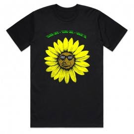 CULT Tricou Sunflower negru