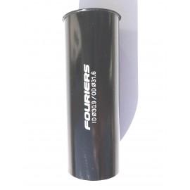 FOURIERS Adaptor pentru tija de sa 31.6 x 30.9 80mm, Negru
