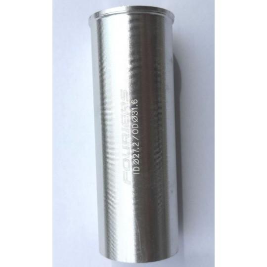 FOURIERS Adaptor pentru tija de sa 31.6 x 27.2 80mm, Argintiu