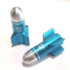 FOURIERS Capac ventil Rocket 2 buc/set Albastru