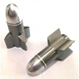 FOURIERS Capac ventil Rocket 2 buc/set Gri
