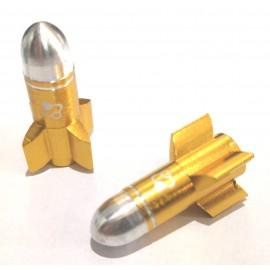 FOURIERS Capac ventil Rocket 2 buc/set Auriu