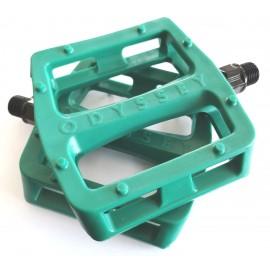 ODYSSEY Pedale BMX Grandstand V2 Plastic, verde