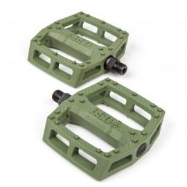 BSD Pedale BMX SAFARI plastic - verde olive