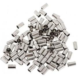 MILES Capete camasa frana 5mm otel 200 buc./set, argintiu