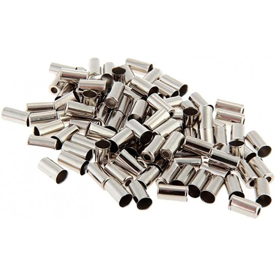 MILES RACING Capete camasa schimbator 4mm otel 200 buc./set, argintiu
