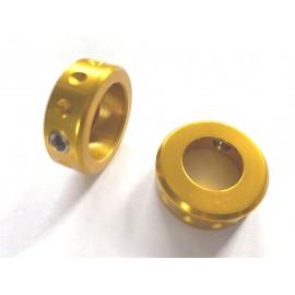 Profile Bar ends  Dog Collar aluminiu, auriu