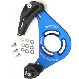 FOURIERS Chain Guide 1x CNC top guide+rotita din plastic ISCG Negru-Albastru