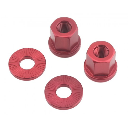 THE SHADOW CONSPIRACY Piulițe aluminiu pentru ax de butuc 3/8 roșu