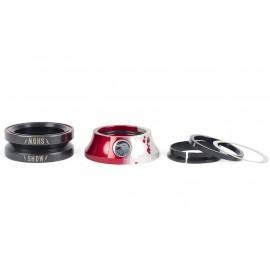 THE SHADOW CONSPIRACY Headset Stacked Rosu-Argintiu