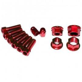 XPOSURE Set șuruburi și piulițe roșu
