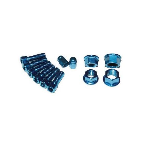 XPOSURE Set șuruburi și piulițe albastru