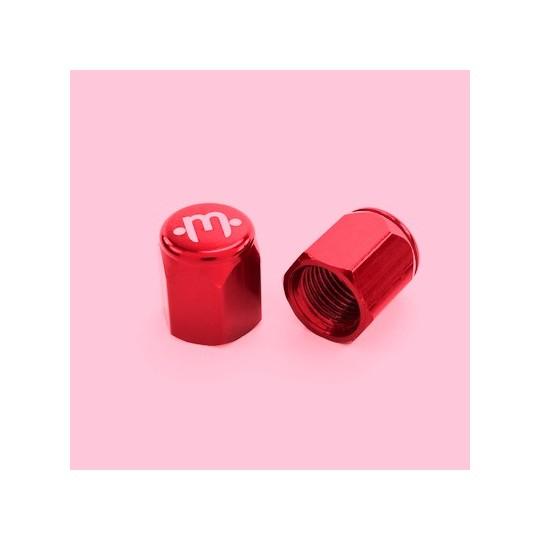 MISSION Capac Ventil Aluminiu Roșu