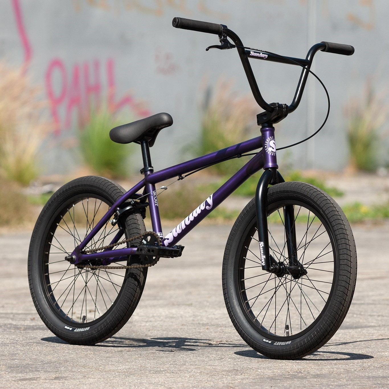 "SUNDAY Bicicleta BMX 2022 Scout mov mat translucent 20.75""TT"