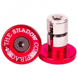 THE SHADOW CONSPIRACY Deadbolt Bar Ends rosu