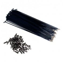 PRIMO Set spite si nipluri 186mm negru (50 buc/set)