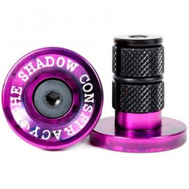 THE SHADOW CONSPIRACY Deadbolt Bar Ends mov-negru