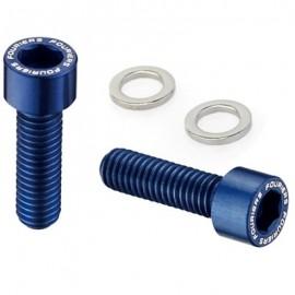 FOURIERS Surub pentru suport bidon, AL-7075-T6 full CNC, 2 buc/set, Albastru