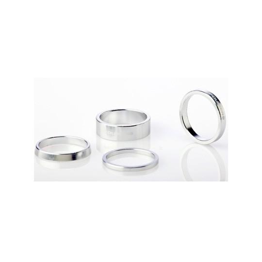 FOURIERS Distantier Classic din aluminiu pentru furci, set 4 buc, Argintiu
