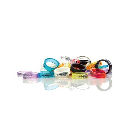 FOURIERS Distantier din plastic pentru furci, set 3 buc Galben