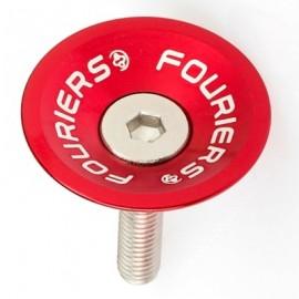 FOURIERS Capac pentru furci, 1-1/8, Aluminiu 6061-T6 CNC, Rosu
