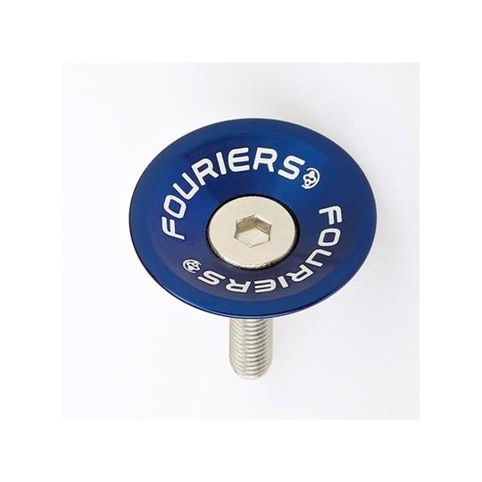 FOURIERS Capac pentru furci, 1-1/8, Aluminiu 6061 T6 CNC, Albastru