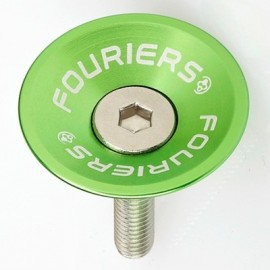 FOURIERS Capac pentru furci, 1-1/8, Aluminiu 6061-T6 CNC, Verde mar