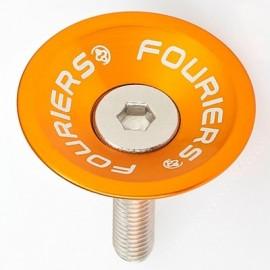 FOURIERS Capac pentru furci, 1-1/8, Aluminiu 6061-T6 CNC, Portocaliu