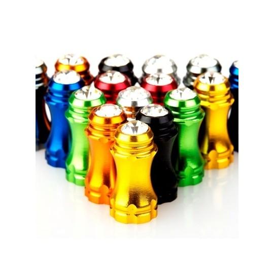 FOURIERS Capac ventil presta Bling, AL-6061-T6 full CNC, Rosu