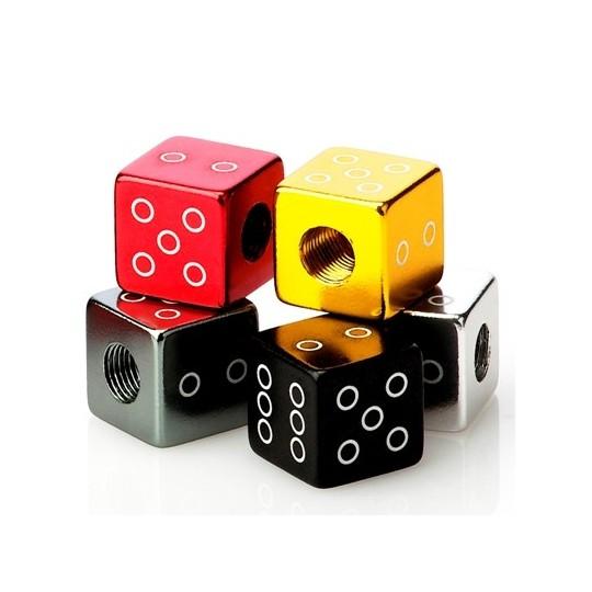 FOURIERS Capac ventil Dice 2 buc/set Negru