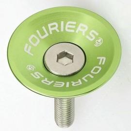 FOURIERS Capac pentru pipa ghidon, 1-1/8, Aluminiu 6061-T6 CNC, Verde