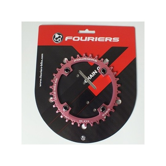 FOURIERS NW Foaie angrenaj, 34T comp Shimano 104mmx4 Pink