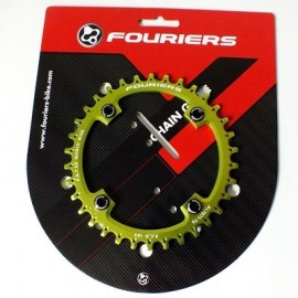FOURIERS NW Foaie angrenaj, 34T comp Shimano 104mmx4 Verde