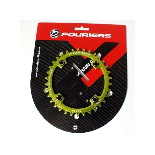 FOURIERS NW Foaie angrenaj, 36T comp Shimano 104mmx4 Verde