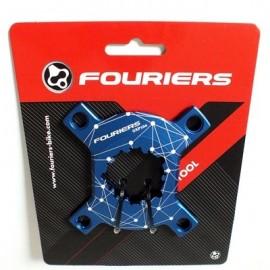 FOURIERS Spider Adapter PCD104 comp Sram XX1 GXP CNC AL-7075-T651 Albastru