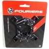 FOURIERS Spider Adapter PCD104 comp Sram XX1 GXP CNC AL-7075-T651 Negru