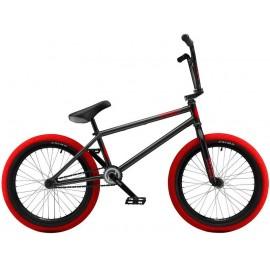 STRANGER Bicicleta BMX 2018 Crux 20.75 gri inchis-rosu