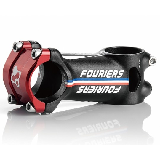 FOURIERS Pipa ghidon AL-6066-T6 3D forged+CNC, 90mm, 31.8, Negru