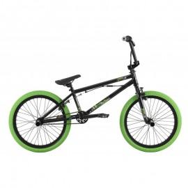 HARO Bicicleta BMX Downtown DLX negru mat-verde 20.3 2017