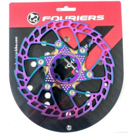 FOURIERS Rotor frana disc 180mm Ti-Coating Oil Slick