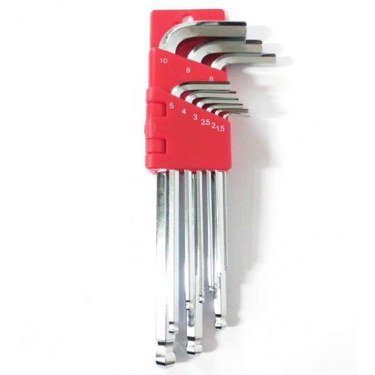 FOURIERS Set Chei L Imbus, Heat Treated, 1.5-10mm, cromat, set 9 buc