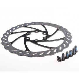 MILES RACING Rotor frana disc, stainless steel - negru-argintiu - 203mm
